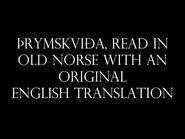 Þrymskviða (Thrymskvida), read in Old Norse with an original English translation