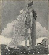 Freyja and Svipdagr - John Bauer