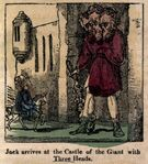 Three-headed Ogre - Jack and the giant, from The history of Jack the giant killer (1830-1835)