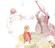Þórr vs. Hrungnir by Giovanni Caselli