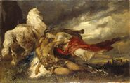 Valkyrja and a Dying Hero (Hans Makart) - Nationalmuseum - 19497