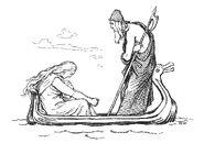 Frigg and Odin by Frølich