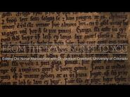 From the manuscript to you- How Old Norse manuscripts are read and edited