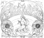 Thor wades while the æsir ride by Frølich
