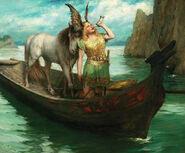 Ferdinand Leeke - Siegfried's Rhine Journey, 1908