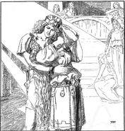 Svipdagr and Menglǫð by Franz Stassen