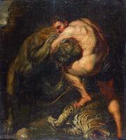 Pieter paul rubens, ercole e i leone nemeo, 02
