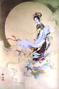 The moon goddess of change shi yu