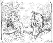 Odin and Sága by Frølich