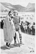 The Stranger advises Sigurðr how to choose his Horse by J. C. Dollman