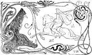 Fenrir and Odin by Frølich