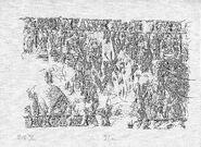Oseberg offerhenging tegning
