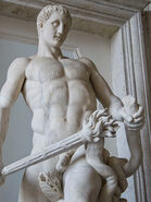 Hercules slaying the Hydra Roman copy of 4th century BCE original by Lysippos Capitoline Museum