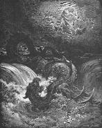 Holzschnitt Leviathan