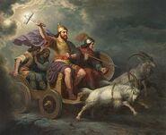 Thor drager paa Eventyr med Asaloke, Roska og Tjalfe