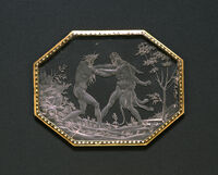 Annibale Fontana - Plaque with Hercules and Achelous - Walters 4171