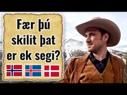 Old Norse - Can Norwegian, Danish and Icelandic speakers understand it? @Jackson Crawford
