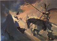 Óðinn rides Sleipnir