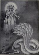 Brahma give boon to Shesha and order to bear the Prthvi or Earth