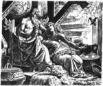 Óðinn with Gunnlǫð by Johannes Gehrts