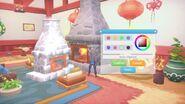 Fireplace dye white