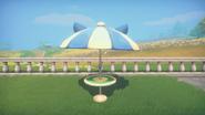 Cat-Ear Patio Umbrella Front