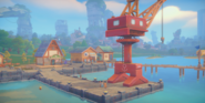 Cutscene Build the Harbor Crane