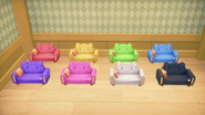 Leather Sofas dyed