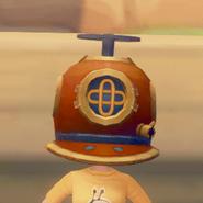 Diving Helmet on model