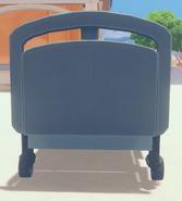 Hospital bed rear
