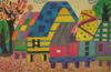 Art Colorful Houses