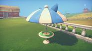 Cat-Ear Patio Umbrella Side