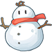 Snowman with a Red Scarf.png