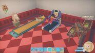 Treadmill in use