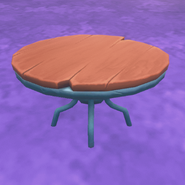 Dining table in placed in home