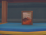 Painting: Distant Mountains
