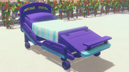 Hospital bed dyed