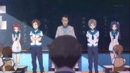 Chisaki,Kaname,Hikari, and Manaka introducing them self infront of their new class