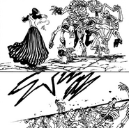 Merlin defeating the reanimated soldiers