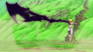 Meliodas forming a blade from the black mark