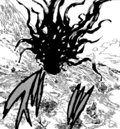 Meliodas breaking out of the Goddess Amber