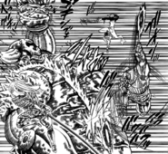 Dawn Roar damaging Gowther's armor