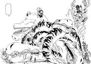 Meliodas beat up tons of Earth Crawlers