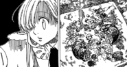 Elizabeth and Hawk's reaction after dropping the vegetables