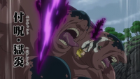 Meliodas using Enchantment Hellblaze on Dale