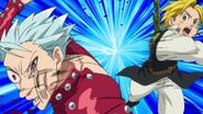 Meliodas punching Ban1