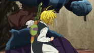 Meliodas punching and defeating Ruin