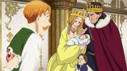 Escanor sees himself as an infant with his family
