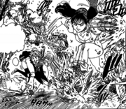 Diane chasing Meliodas thinking he is Ruin