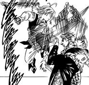 Meliodas fighting Hendrickson